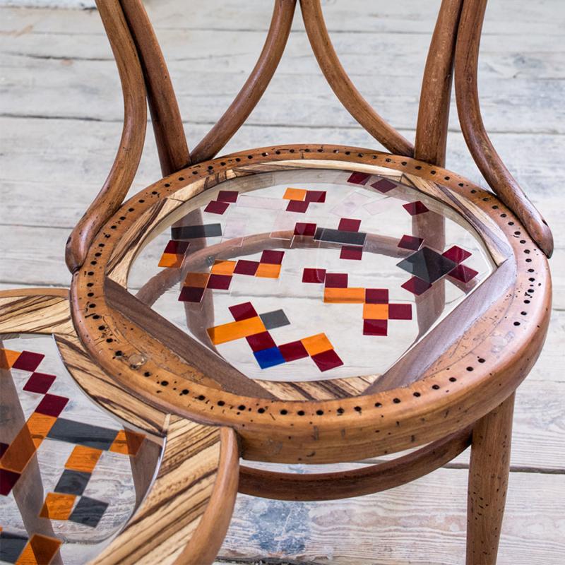 Hillsideout - Mosaiced Thonet Bench