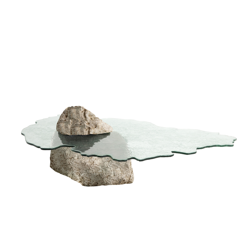 Cypraea - Ile Maurice low table in coral stone