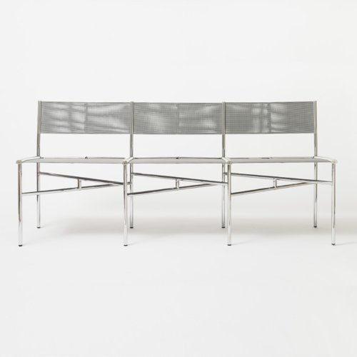 Laurence Humier - Meeting Chairs - 3 Seats – Batyline – Grey