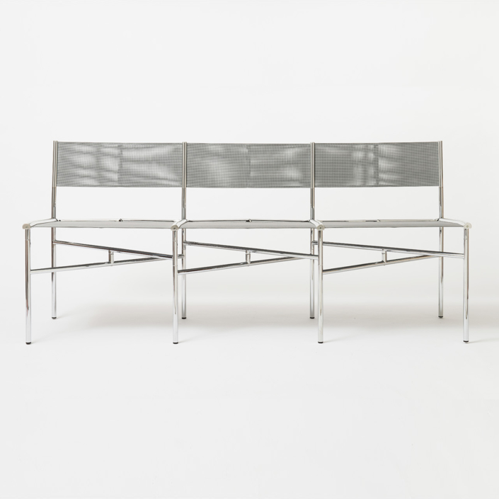 Laurence Humier - Meeting Chairs - 3 Seats – Batyline – Grey