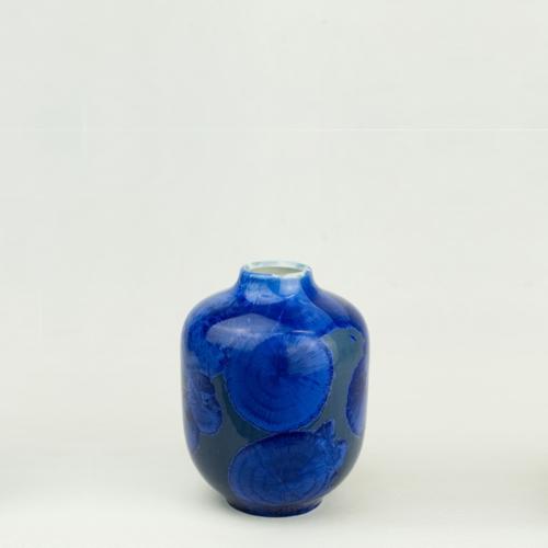Milan Pekar - Volume 1 Crystal Vase - Blue