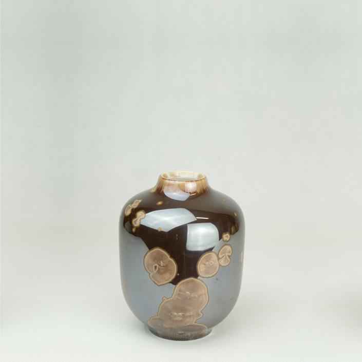 Milan Pekar - Volume 1 Crystal Vase - Brown