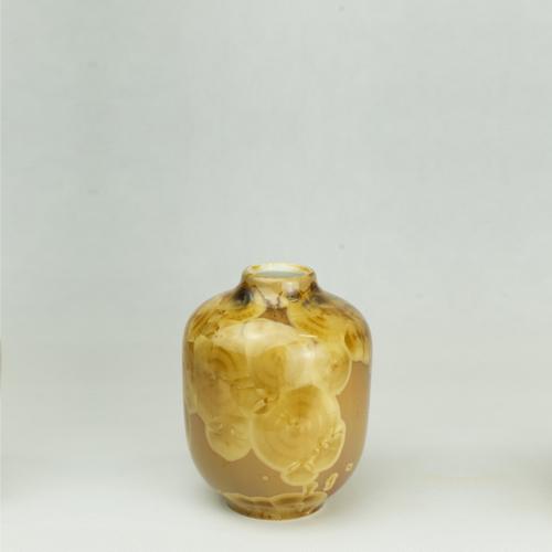 Milan Pekar - Volume 1 Crystal Vase - Amber