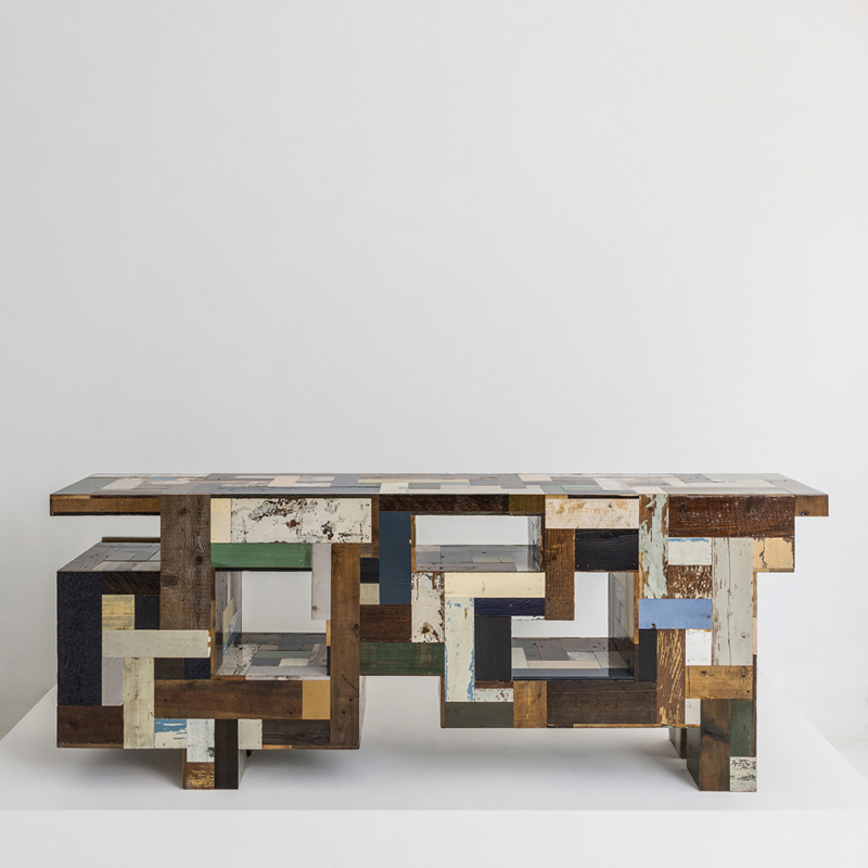 Piet Hein Eek - Stacked Volumes Waste Cupboard in Scrapwood