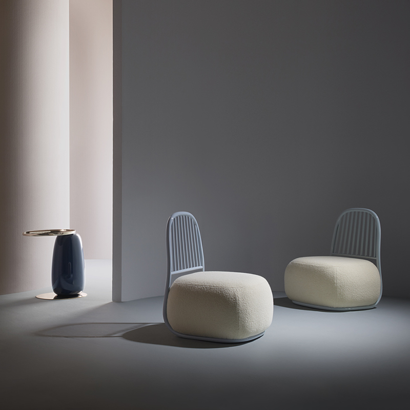 Ini Archibong for Sé - Eos Table Lacquered and Circe Armchair
