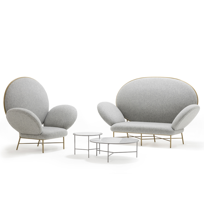 Nika Zupanc for Sé - Smoke Coffee Tables, Stay Armchair and Sofa