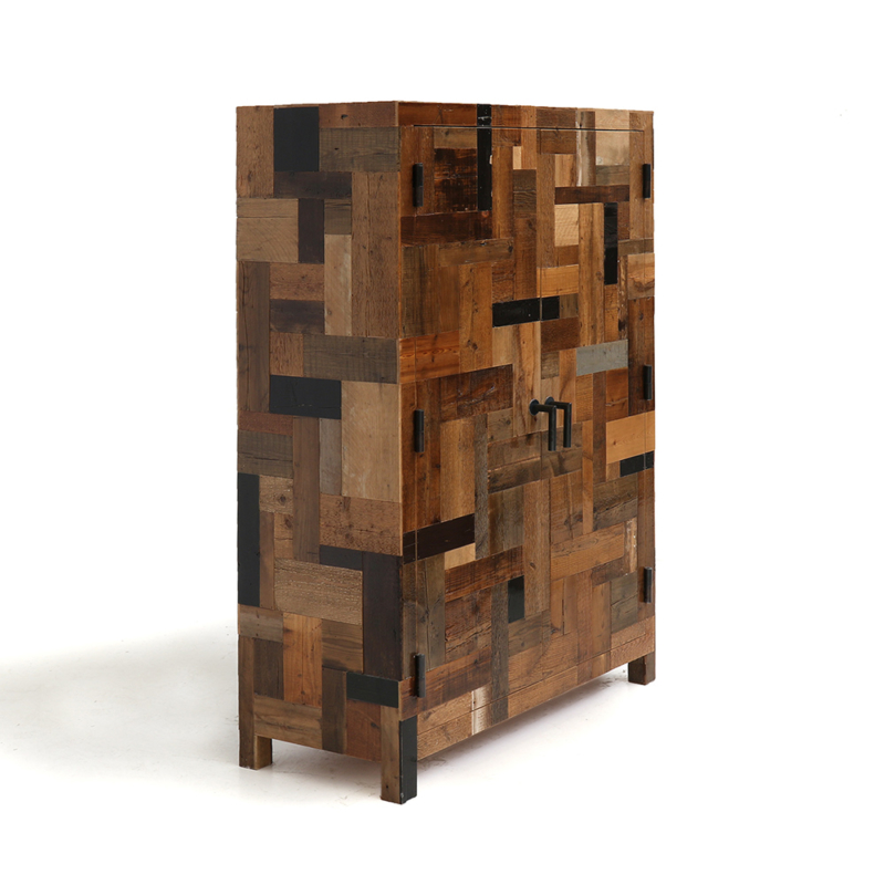 Piet Hein Eek - Dark Waste Cabinet in Scrapwood