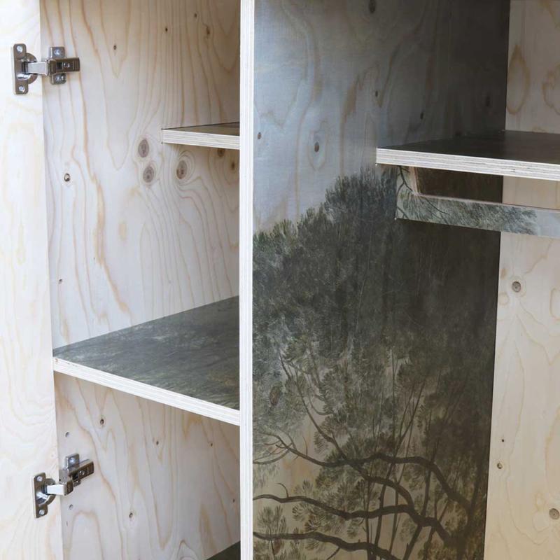 Piet Hein Eek - Exactly Three-Sheet Cabinet – high printed