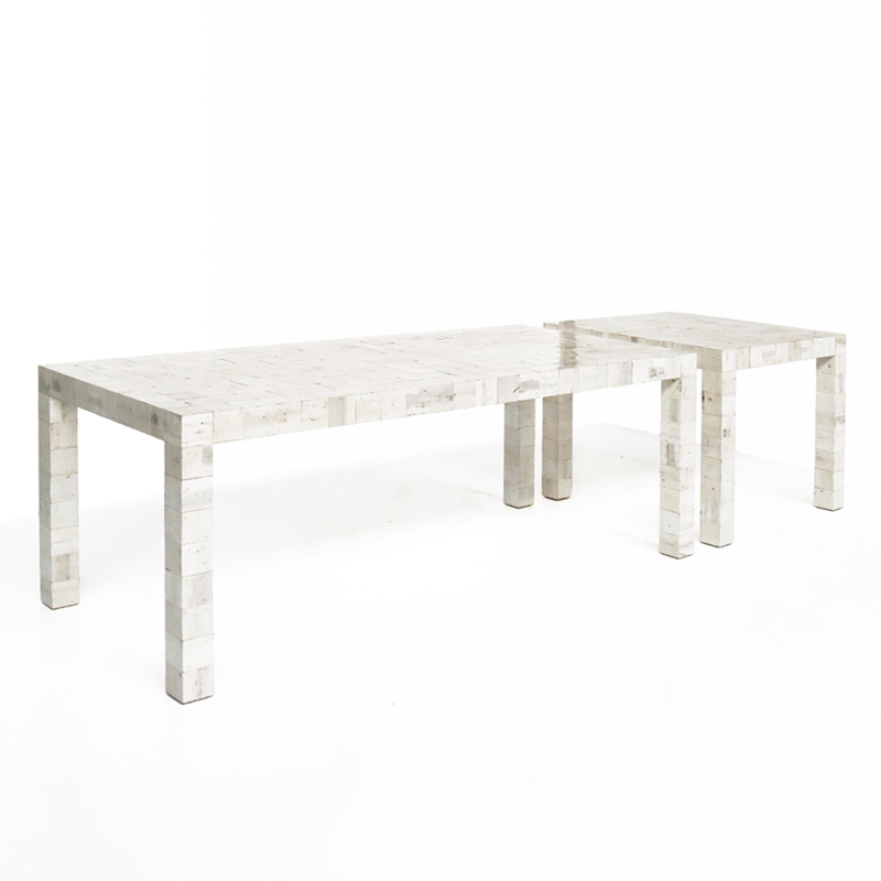 Piet Hein Eek - Waste Waste Different Table and Small Table 80x80