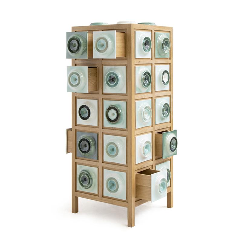 Piet Hein Eek - Tile Cabinet in Oak No. 1