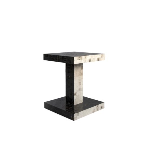Piet Hein Eek - Waste Waste Bicolor Table – Twinset Black & White 40x40