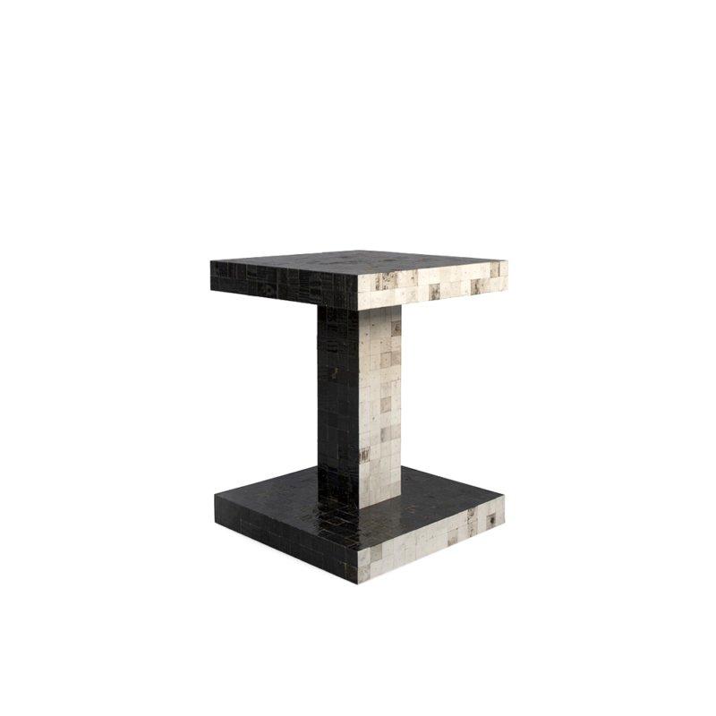 Piet Hein Eek - Waste Waste Bicolor Table – Twinset Black & White 40x40