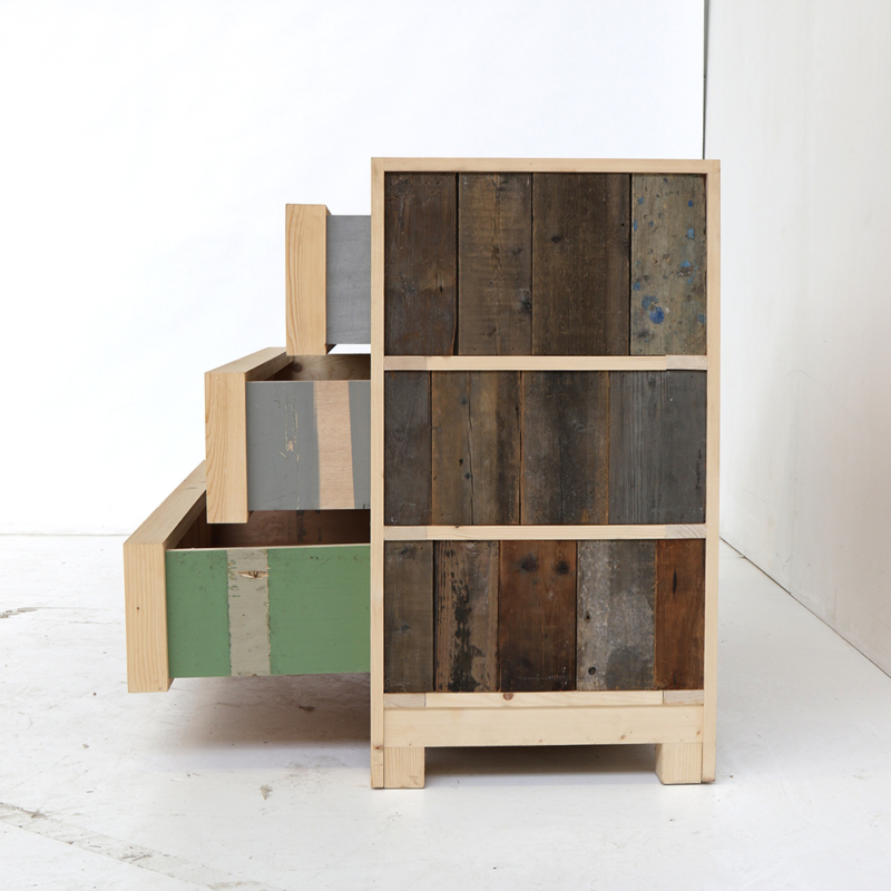 Piet Hein Eek - 3-drawer Dressoir in Scrapwood