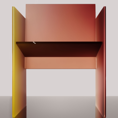 frosted glass chair